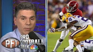 Comparing mock drafts for second half of 1st round | Pro Football Talk | NBC Sports