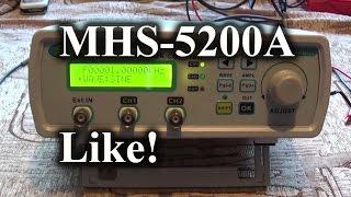 видео DDS Генератор MHS 5200A ложка дёгтя