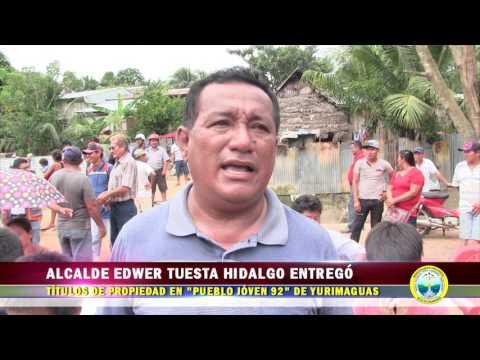 ALCALDE EDWER TUESTA ENTREGÓ TÍTULO DE PROPIEDAD EN PUEBLO JÓVEN 92 DE YURIMAGUAS