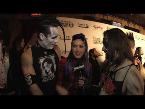 DOYLE VON FRANKENSTEIN and ALISSA WHITE-GLUZ Interview, Revolver Music Awards 2016 | MetalSucks