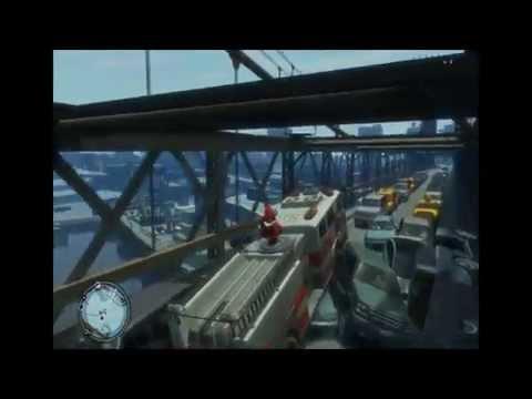 GTA IV 4 - NIKO IS TOO CRAZY! DESTRUCTION IN BROKER BRIDGE