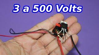 Elevador de Voltaje Miniatura. 3 a 500 Volt
