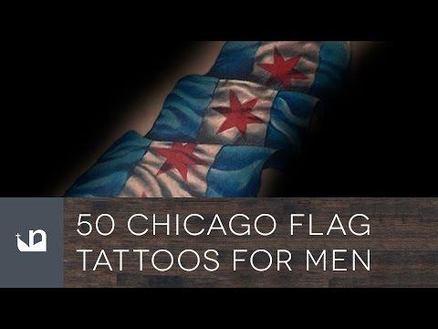 50 Chicago Flag Tattoos For Men