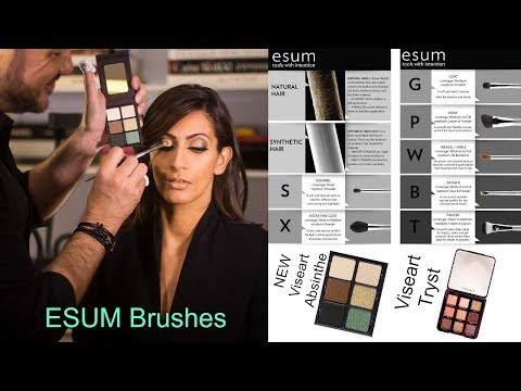 ESUM Brushes with Alphonse | Demo with NEW Viseart Absinthe Theory & Tryst Palettes