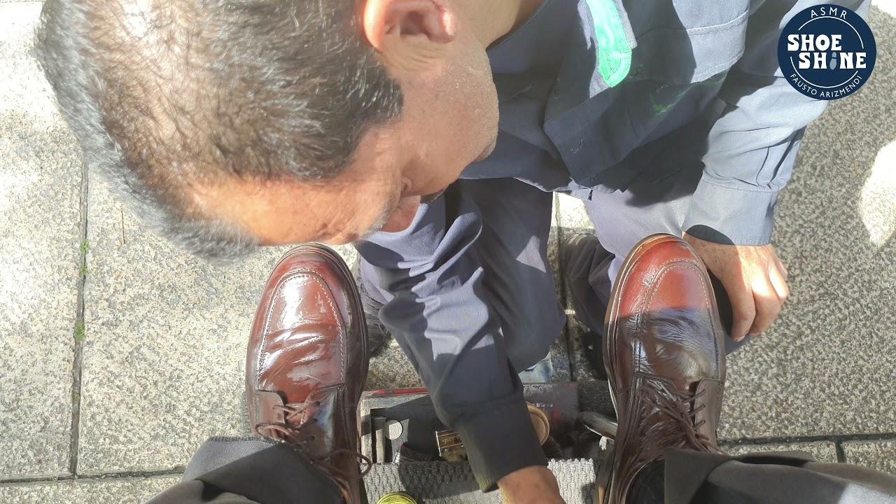 S4E105 brown shoes in the morning #ASMR #shoeshine #faustoarizmendi