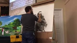 """""""The Good Shepherd"""" time lapse drawing"""