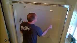How to (remove & clean) glass shower doors.