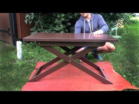 Самодельный журнальный столик. Складной столик для ноутбука