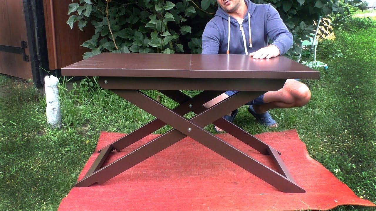 Самодельный журнальный столик. складной столик для ноутбука .
