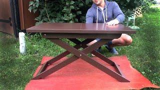 Самодельный журнальный столик. Складной столик для ноутбука(Обзор самодельного небольшого раскладного журнального столика. Подписаться:https://www.youtube.com/channel/UCpt4EHBhBdVVWNrmfLK_gJ..., 2016-07-15T13:56:29.000Z)