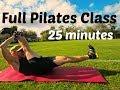 FULL 25 Minute Pilates Abs Class   Total Body Core Workout #pilatesworkout