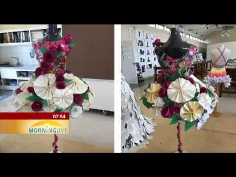 Fashion Academy Network has held a paper-dress competition