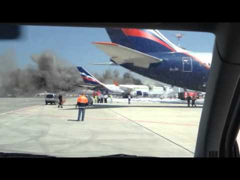 Aircraft fire Sheremetevo June 2014