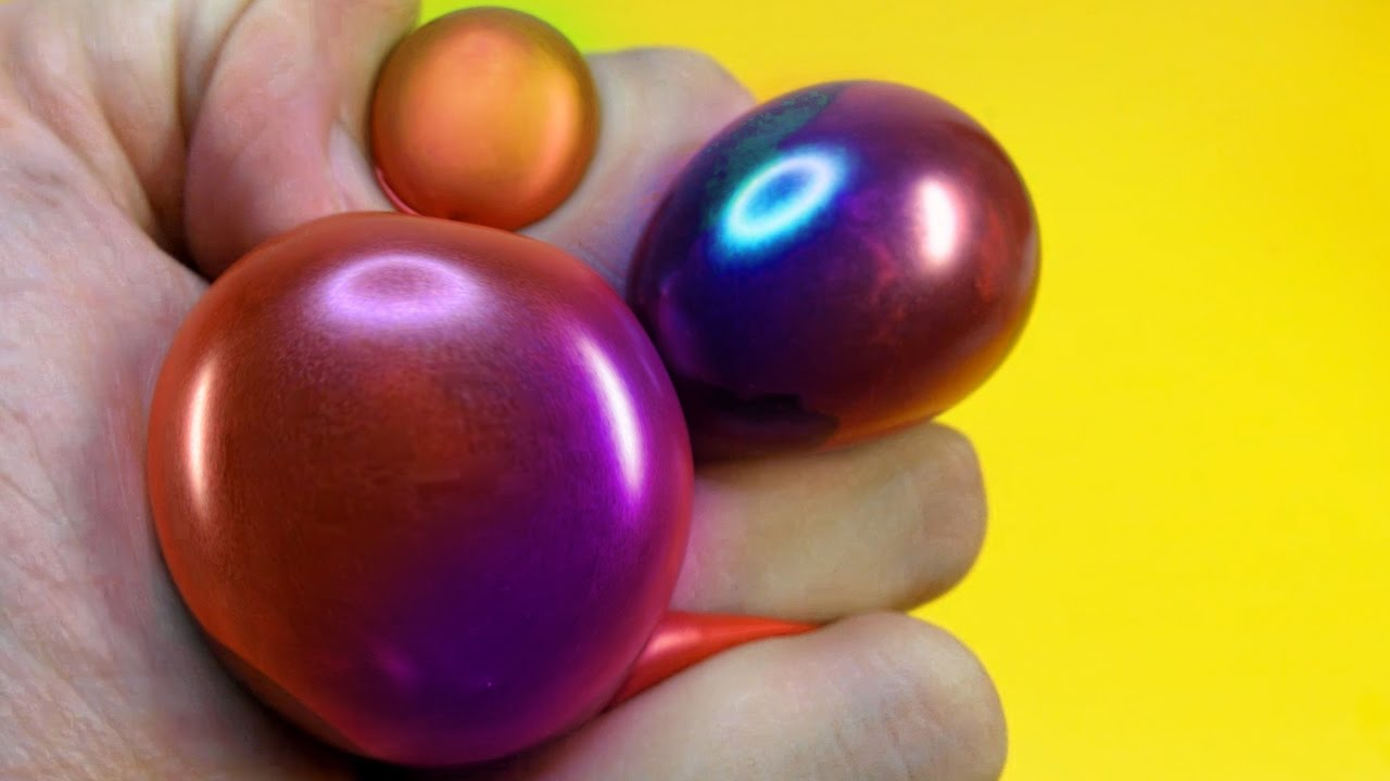 Squishy Ball Slime : DIY SLIME STRESS BALL - SQUISHY WUBBLE BALLOON PUTTY BUBBLE - Elieoops - YouTube
