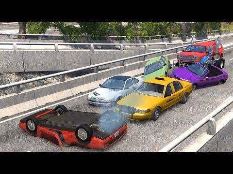 Beamng drive - Traffic car Speeding Crashes