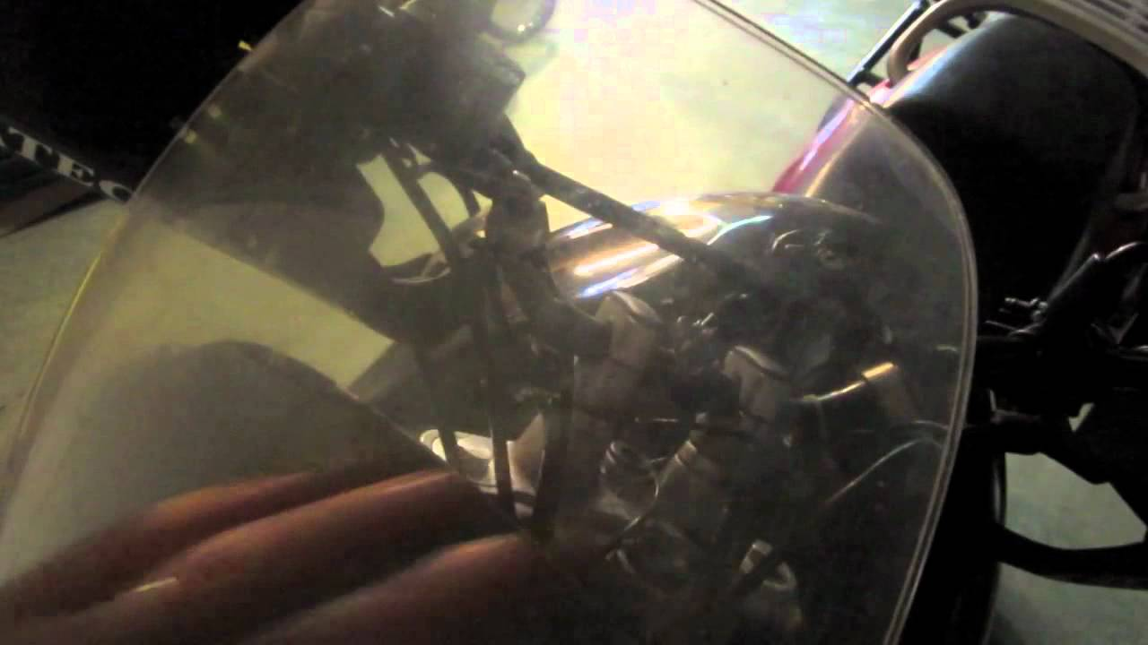 trying to polish the windshield on a bmw f650 funduro with