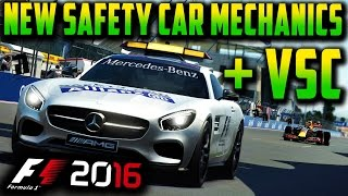 F1 2016 GAME: NEW SAFETY CAR MECHANICS + VIRTUAL SAFETY CAR