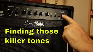 Harley Benton HB-20R Amp Demo How to Use an Amp to Find Your Sound