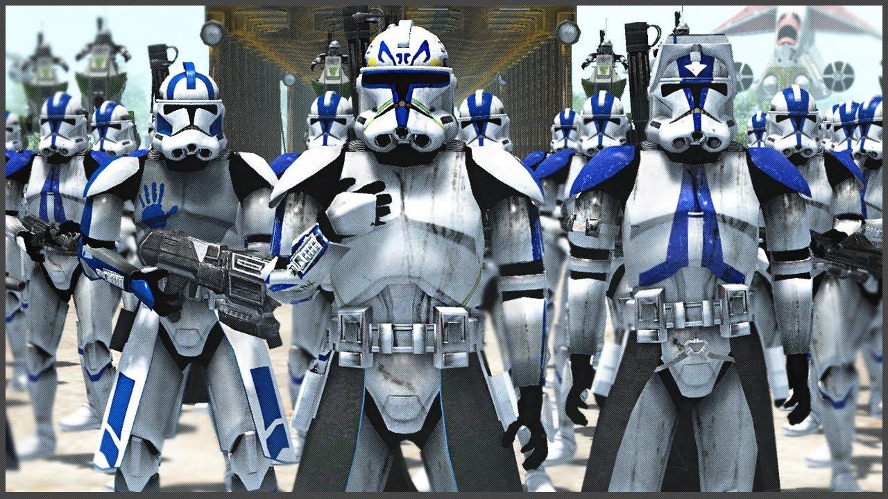 501 ЛЕГИОН ОБОРОНЯЕТ МОСТ! ► Men of War: Star Wars Mod Battle Simulator
