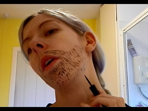 facial How to hair fake apply