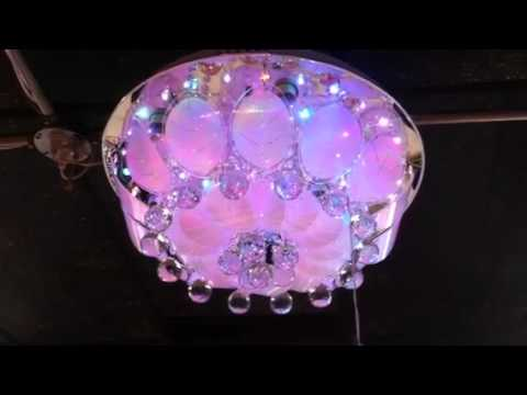 LED color changing chandelier - YouTube
