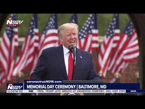 GOD BLESS AMERICA: President Trump's FULL SPEECH Memorial Day in Baltimore, MD