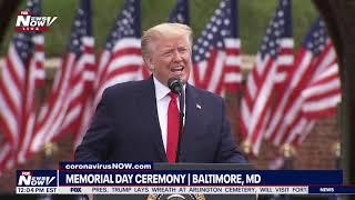 GOD BLESS AMERICA: President Trump's FULL SPEECH Memorial Day in Baltimore, MD