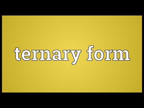 Ternary form Meaning