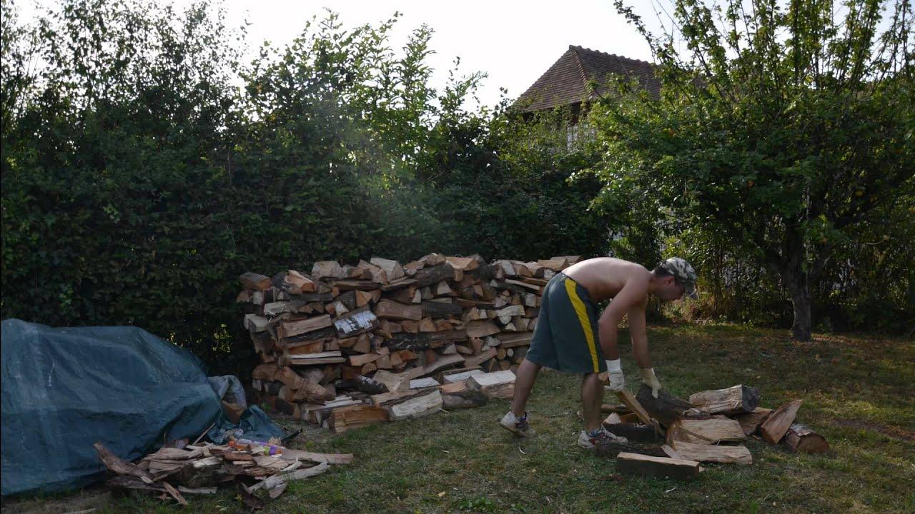 Rangement de bois YouTube # Palette Bois De Chauffage