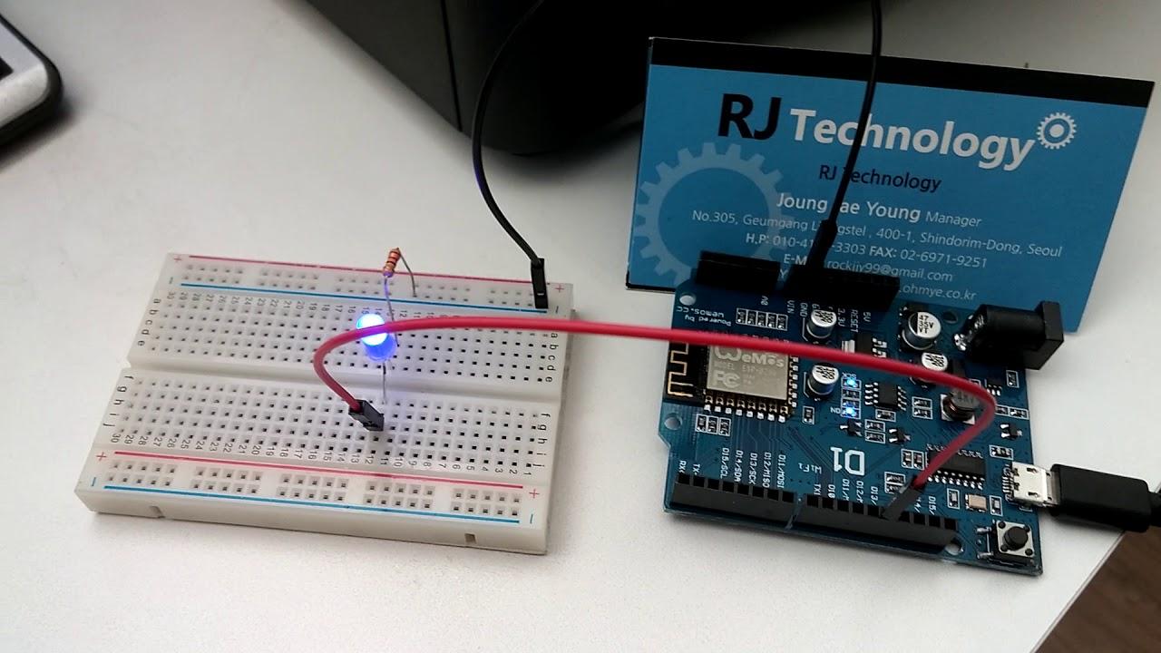 Arduino Uno 호환 Wemos D1 Wifi Board 를 사용해서 웹으로 LED를 제어해