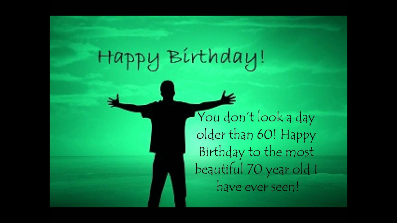 Beautiful 70th Birthday Greeting For Friend Or Parents Youtube