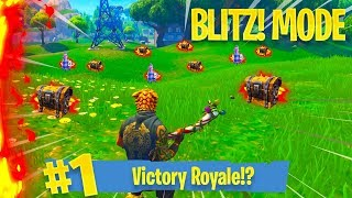 New Mode: BLITZ! - PS4 Fortnite Battle Royale - Getting A FAT W!!!!