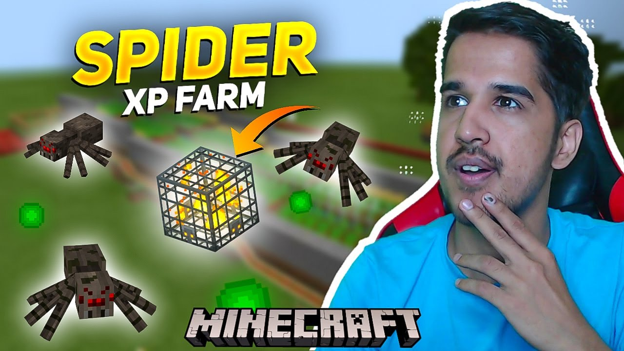I Made Best SPIDER XP FARM in Minecraft || Desi Gamers