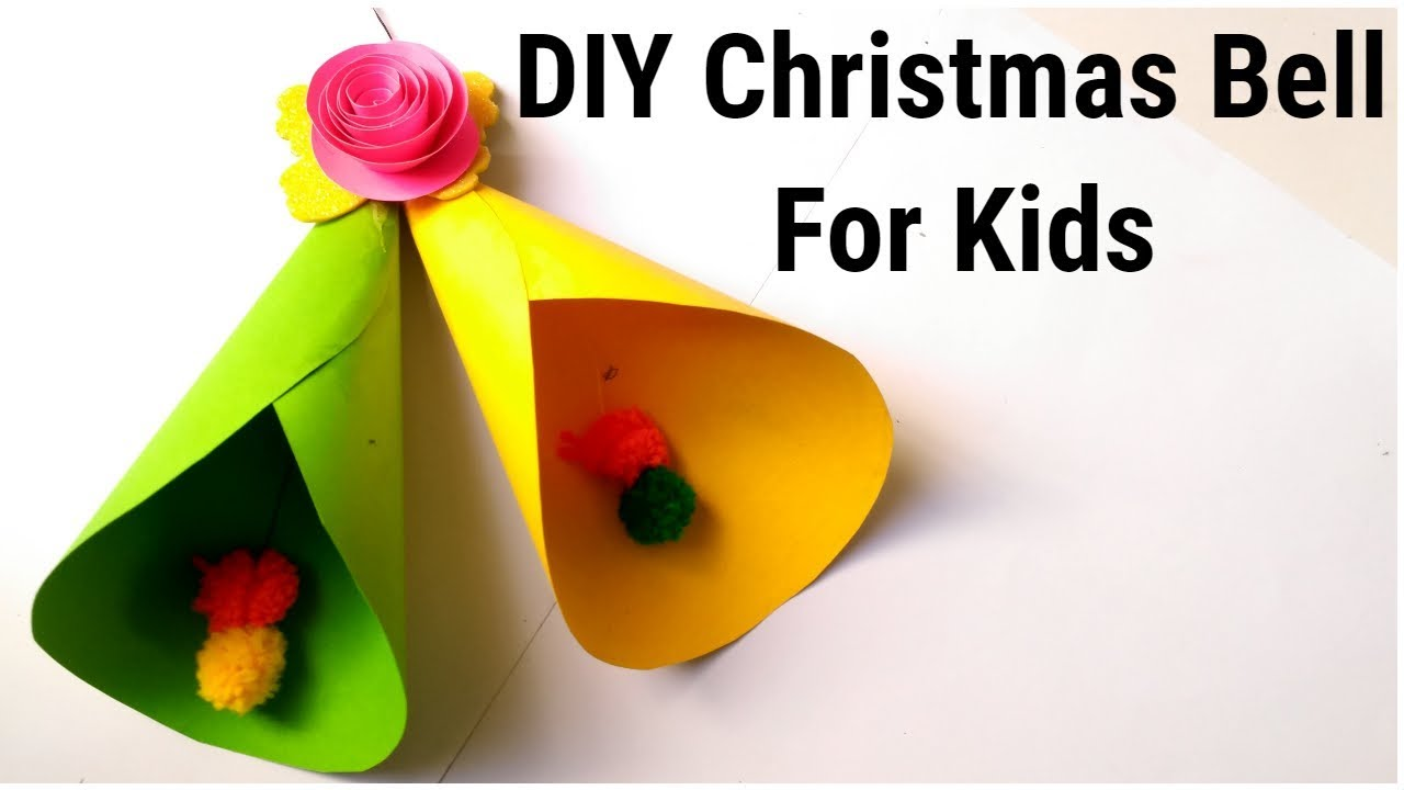 DIY Christmas Bell from paper / Easy Christmas Bell for kids/ paper Craft ideas - YouTube