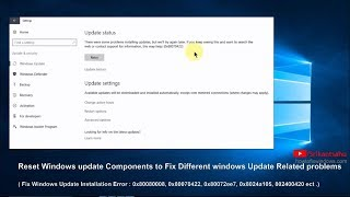 Reset Windows Update components To fix Almost Every Windows update problems