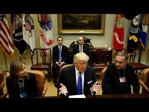 Trump Beyaz Saray'da General Motors, Ford ve Fiat Chrysler yöneticileriyle buluştu - economy