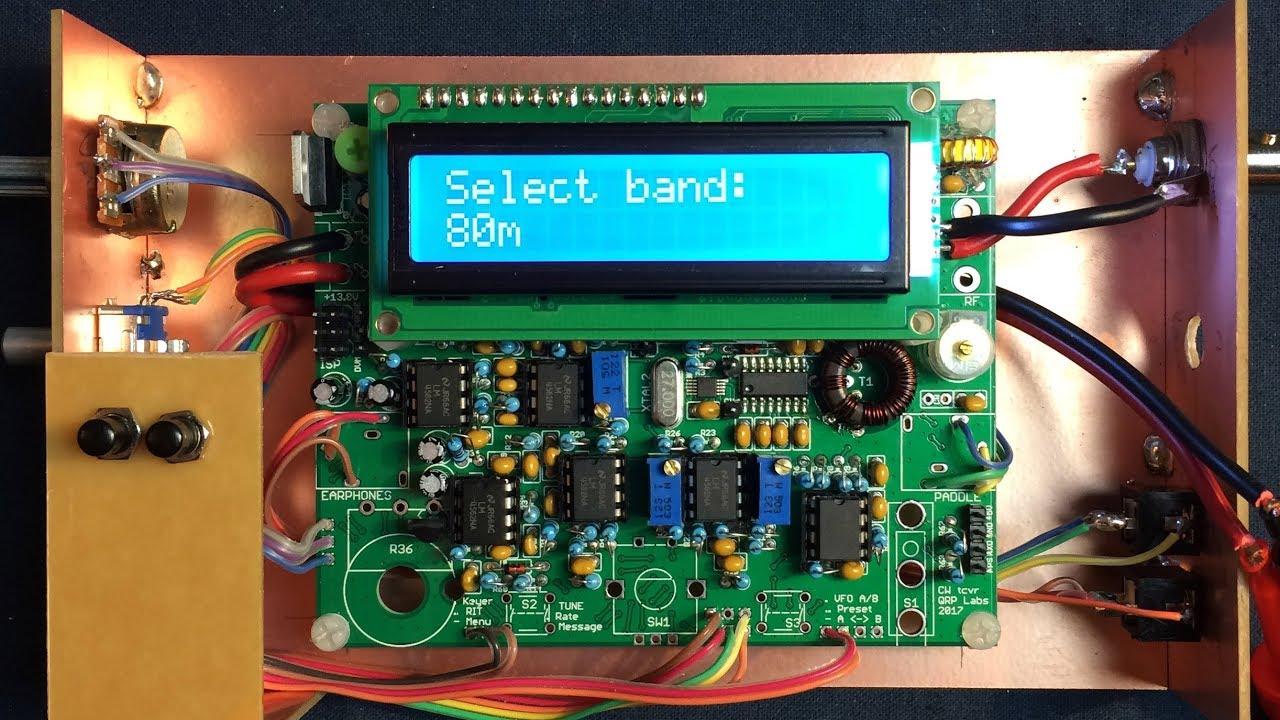 Amateur radio on YouTube: QCX transceiver kit, single-lever
