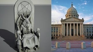 SATANIC GROUP UNVEILS 7 FT STATUE OF BAPHOMET (SATAN) FOR OKLAHOMA STATE CAPITAL (JAN 7, 2014)
