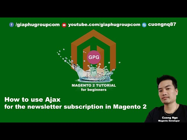 How to use Ajax for the newsletter subscription in Magento 2