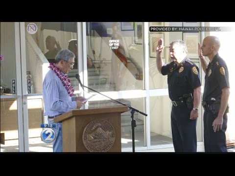 Hawaii County police chief, deputy chief sworn in at public ceremony