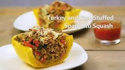 Turkey and Kale Stuffed Spaghetti Squash