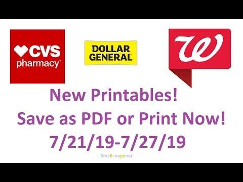 New Printable Coupons 7/21/19-7/27/19! Save as PDF or Print Now!