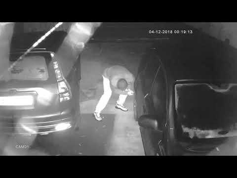 CCTV footage after tyres slashed in Trowbridge