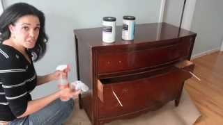 How To Paint A Dresser Using Beyond Paint   Furniture Makeovers: Thrift Diving
