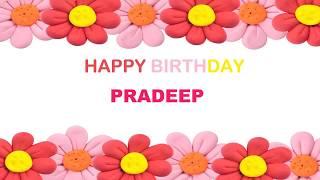 Pradeep   Birthday Postcards & Postales - Happy Birthday