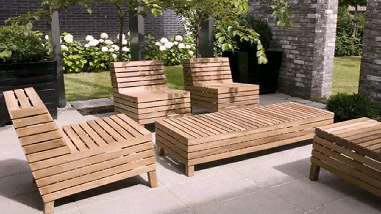 wooden outdoor furniture plans free youtube