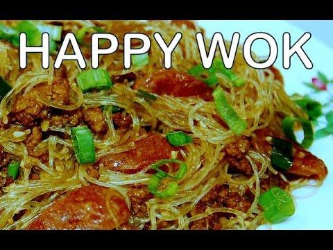 香港烹飪 Stir Fry Noodle with Ground Pork & Chinese Sausage ( bean thread  vermicelli )
