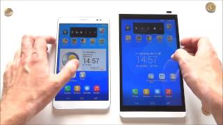 Huawei Mediapad X1 vs Mediapad M1 - демонстрация работы