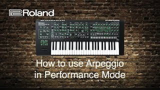 Roland System-8 - How to use Arpeggio in Performance Mode