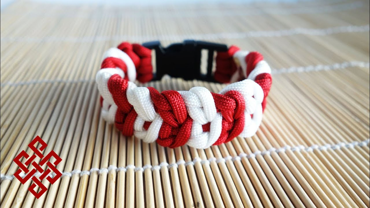 How to make a cupid 39 s belt paracord bracelet tutorial for How to make a belt out of paracord